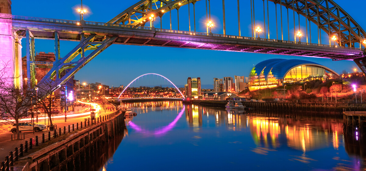The Tyne Bridge at the Blue Hour