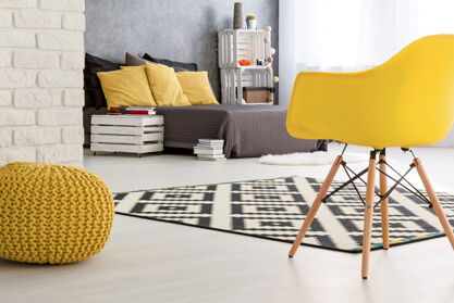 Yellow themed Studio Apartment