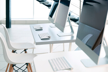 Smart Office space with iMacs